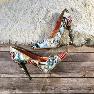 Shoe republic la like new map of the world heels